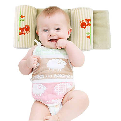 Gemini Fairy Newborn Infant Prevent From Flat Head Baby Head Support Pillow (Green)
