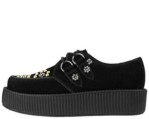 T.U.K. Unisex-Erwachsene Viva Mondo Creeper Flower Studs Derby Black
