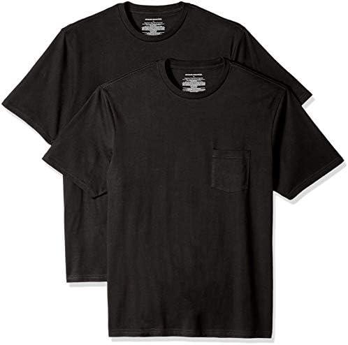Amazon Essentials Men's 2-Pack Loose-fit Short-Sleeve Crewneck Pocket T-Shirt