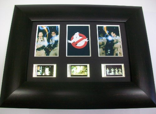 GHOSTBUSTERS Framed Trio 3 Film Cell Display Collectible Movie Memorabilia Complements Poster Book Theater