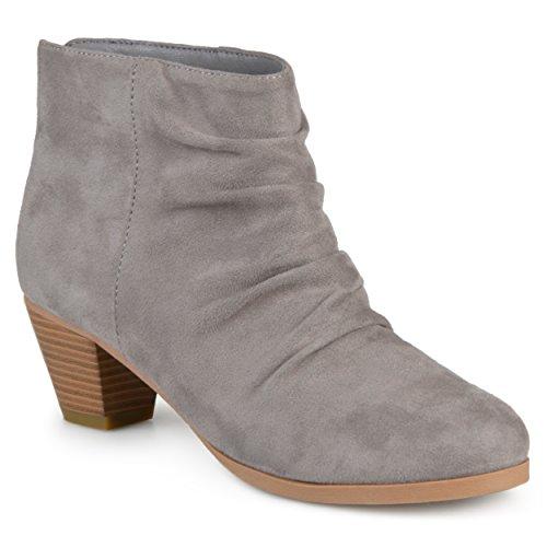Collezione Journee Donna Slouch In Finta Pelle Scamosciata Ankle Boots Grigio