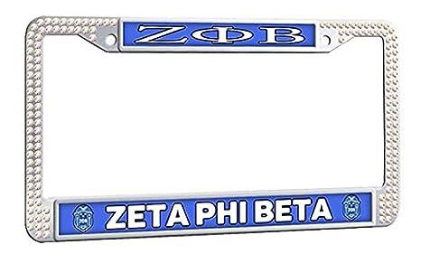 Amazon.com: ZETA PHI BETA License Plate Frame, Customized Car ...