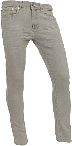 - Hat and Beyond Mens Jeans Casual Denim Slim Fit Stretch Pants (33X32, 151 Gray Baked)