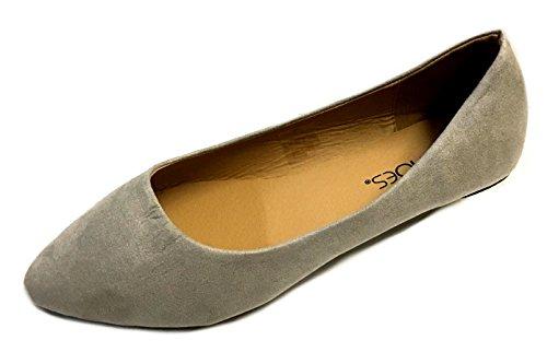 Schoenen 18 Puntige Ballet Platte Schoenen 4052 Grijs