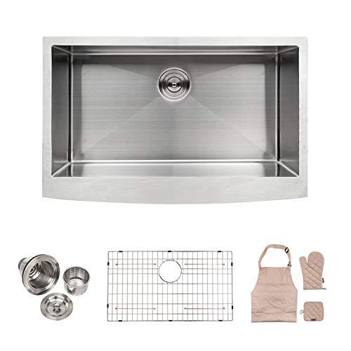Review Of LORDEAR LA3021R1 Bar Sink 30 Inch Farmhouse Apron Single Bowl Stainless Steel Kitchen Sink...