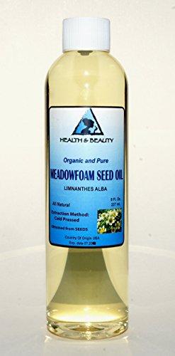 Meadowfoam Seed Oil Organic Carrier Expeller Pressed 100% Pure 8 oz