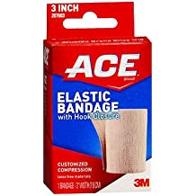 """Ace Elastic Bandage with Hook Closure 3"""" Width, Pack of 6"""