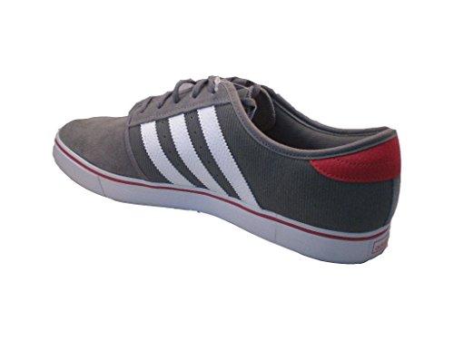 reputable site b21ec d9cf3 chaussures  suède  gris-blanc-rouge. Adidas Seeley Chaussures Athlétiques,  Décontractées Ou Mode Homme Taille 13 Gwr
