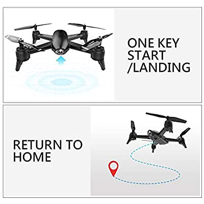 GoolRC Drones QuadcoptersSG106 Optical Flow Drone with Dual Camera 1080P Wide Angle WiFi FPV Altitude Hold Gesture Photography Quadcopter with 2 Battery by GoolRC