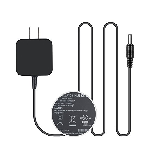 [UL Listed] TFDirect 6 Volt 2.5 Amp Power Adapter, AC to DC, 4.0mm X 1.7mm Plug,AC 100V-240V Converter Adaptor Power Cord Charger DC 6V 2.5A (6V 1A, 1.5A, 2A, 2.5A) Power Supply Wall Plug