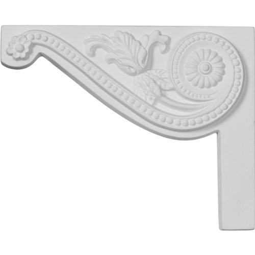 Ekena Millwork SB08X06PE-L 8-Inch W by 6 1/2-Inch H by 3/4-Inch D Pearl Stair Bracket, Left