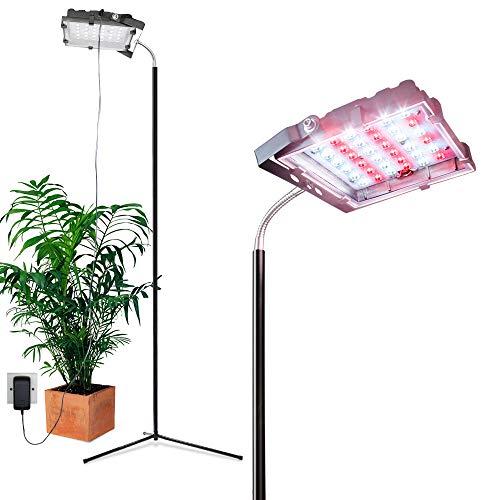 Dommia Floor Lamp LED Grow Lights, 35W Floor Stand Plant Light with Flexible Gooseneck, Full Spectrum Sunlight Plant Growing Lamp for Indoor Plants, Gardening, Hydroponics