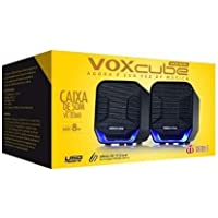 Caixa de som Voxcube VC-D360 Preto led Azul