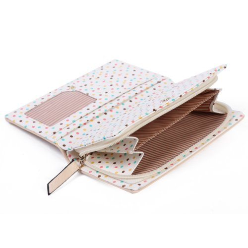 Purse Lightblue Multifunctional Faux Bowknot Leather Women Card Holder Damara Wallet CZqFAx4w