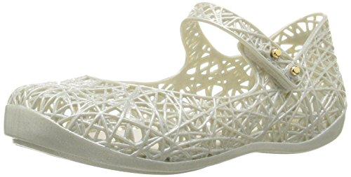 Pastel Kids Shoes (Mini Melissa Girls' Mini Campana Zig Zag Mary Jane, Pastel Silver, 8 M US Toddler)