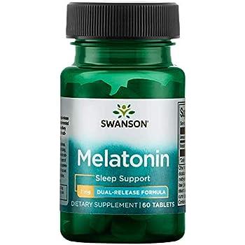 Swanson Dual-Release Melatonin 3 Milligrams 60 Tabs