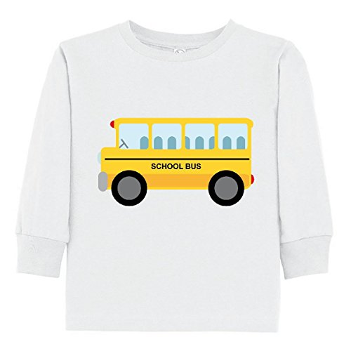 inktastic School Bus Toddler Long Sleeve T-Shirt 3T (School Toddler Tee)