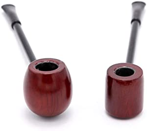 YTPB Gentlemen's Handmade Solid Wood Wooden Tobacco Smoking Pipe,Mr Sherlock Holmes Pipe Designed for Pipe Smokers 2 Piece Set