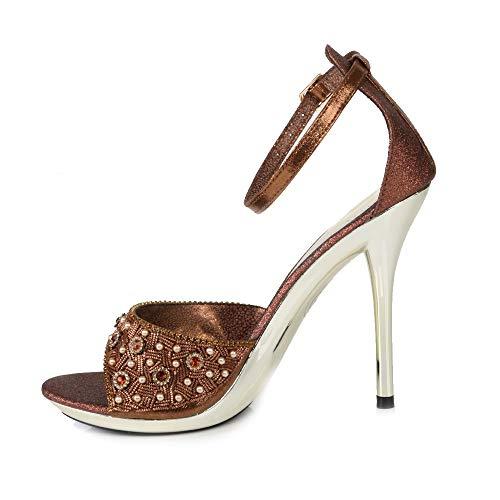 Sandales Pour À Cuivré Soirée De Mariage Motif Haut Party Femmes Talon Chaussures gqHBxw