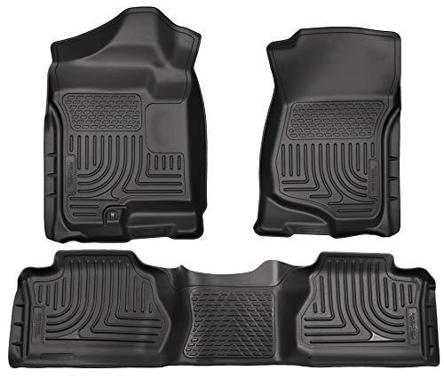 Husky Liners Front&2nd Seat Floor Liners Fits 07-13 Silverado/Sierra ()