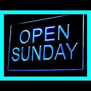Open Sunday Advertising LED Light Sign