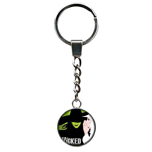 Athena Brand Wicked Broadway Musical Key Ring Keychain for House Boat Auto Keys