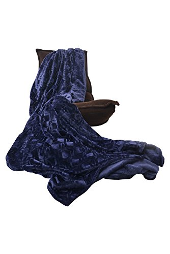 HappyCare Textiles HCT BKT-001 Ultrasoft Diamond Pattern Embossed Micro Velvet Comforter and Blanket, 90