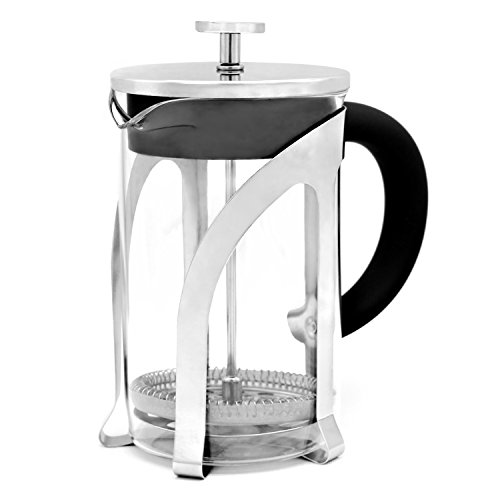 Jeanzer French Press Coffee&Tea Maker with Premium Stainless Steel,High Borosilicate Glass,Comfortable Handle(800ml)