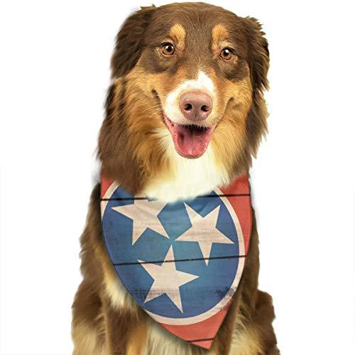 - Tennessee State Flag Wood Pet Scarf Dog Bandana Pet Triangle Bibs
