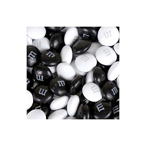 M&M's Black & White Milk Chocolate Candy 5LB Bag]()