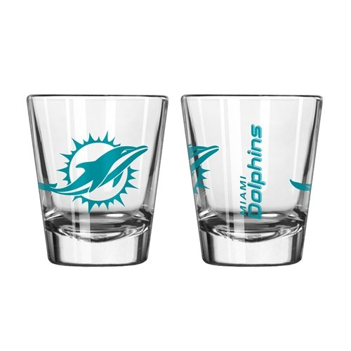 Miami Dolphins Shot Glass - NFL Miami Dolphins Boelter Shot Glasses 2-pack
