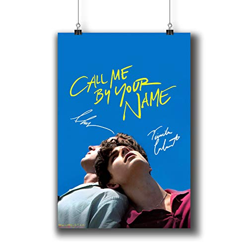 Pentagonwork Call Me by Your Name (2017) Movie Poster Photo Prints 1222-002 Cast Reprint Signed Armie Hammer Timothée Chalamet,Gift Wall Art Decor (A4|8x12inch|21x29cm)
