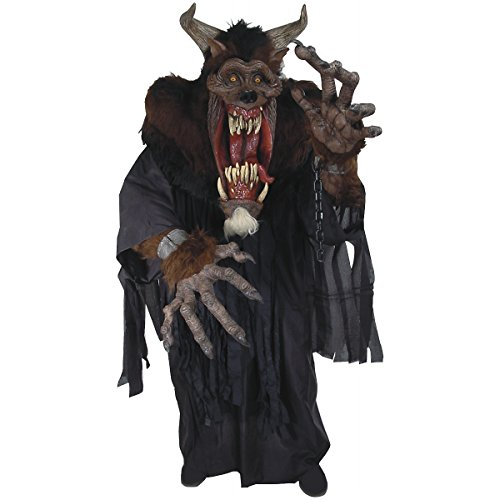 Demon Beast Creature Reacher Deluxe Oversized Mask and Costume]()