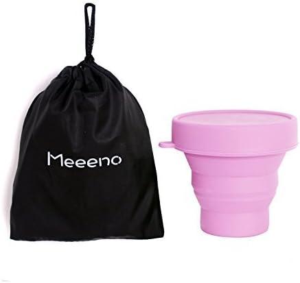 Meeeno Esterilizador De Copa Menstrual Silicona De Grado Médico Con Tapa Y Bolsa 170ml -30°C - 220°C Caja De Almacenamiento Esterilizadora Taza ...