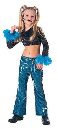 Girls Mega Star Kids Child Fancy Dress Party Halloween Costume, M -