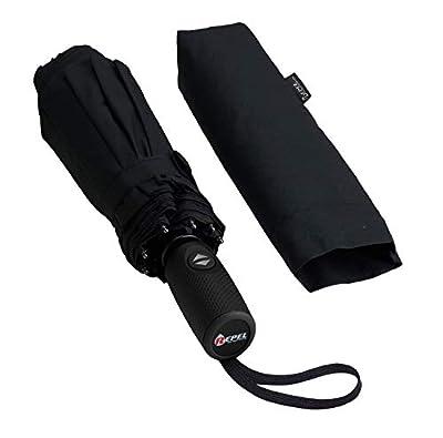Repel Easy Touch Umbrella DuPont Teflon Travel Umbrella, Black