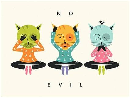 Posterlounge Stampa su Acrilico 40 x 30 cm: No Evil di Jazzberry Blue