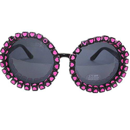 sol de hechas Summer Gu gafas señora gafas a UV y la redondas letras la sol lindo de de polarizadas de de mano Peggy flor protección Beach Corazón zfnw4HH