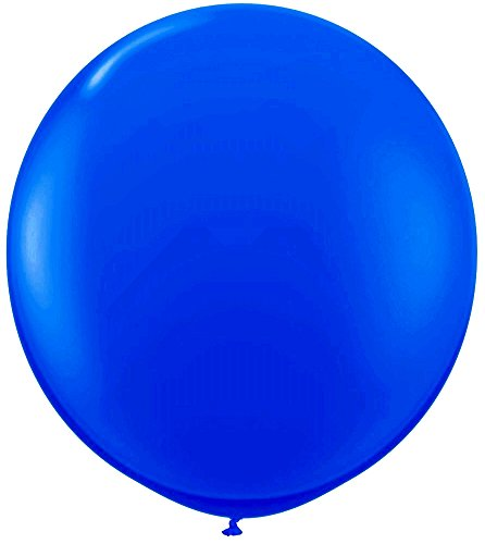 Elecrainbow 36 Inch Balloons Blue Giant Balloons, Oval Latex Shape, Blue Color, 6 Pack -