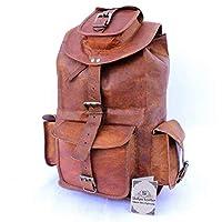 Last DAY - SALE Clearance 2019! Shakun Leather Unisex Handmade Vintage Shoulder Backpack Genuine Rucksack, One size, Free Shipping