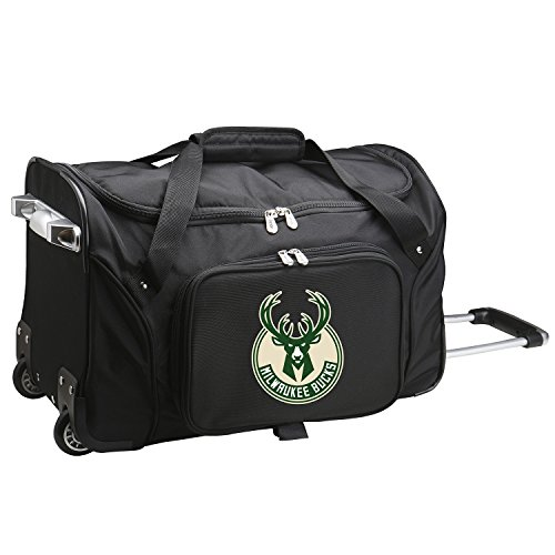 NBA Milwaukee Bucks Wheeled Duffle Bag, 22 x 12 x 5.5