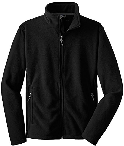 Joe's USA Youth Soft and Cozy Fleece Jackets in 8 Colors. Youth Sizes: XS-XL (Twill Kids Jacket Black)