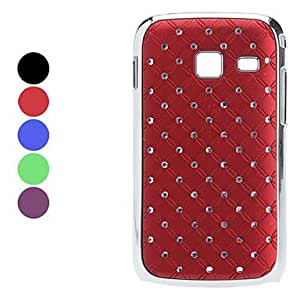 DUR Lattice Style Hard Case with Diamond Surface for Samsung S6102 (Assorted Colors) , Black