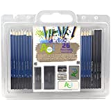 Andalus Color 26 Piece Drawing and Sketching Pencils Set - Includes Graphite and Charcoal Pencils & Sticks