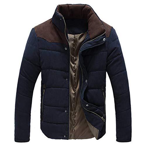 Aiweijia Chaqueta de invierno para hombre Chaqueta de algodón gruesa Chaqueta de abrigo informal para hombre con capucha