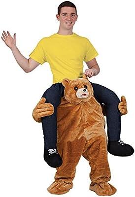 CUTE TEDDY BEAR CARRY MASCOT ME MASCOT FANCY DRESS COSTUME: Amazon ...