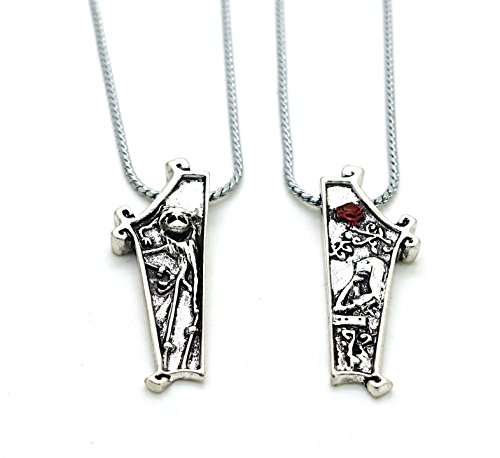 Wo-dreams The Nightmare Before Christmas Couple Necklace Set with ...
