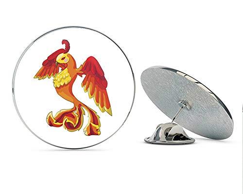BRK Studio Cool Majestic Magical Fantasy Spirit Animal Cartoon #1 - Bird Round Metal 0.75