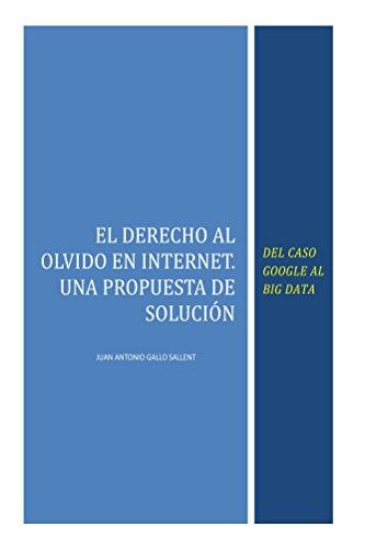 Descargar Libro El Derecho Al Olvido En Internet: Del Caso Google Al Big Data Juan Antonio Gallo Sallent