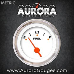 Modern Rodder White Fuel Level Gauge 4668 GAR120ZMXKABAH Aurora Instruments